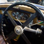 1932 Blue Wolseley Hornet Saloon interior