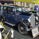 Wolseley Owners Club stand 1932 Blue Wolseley Hornet Saloon front right