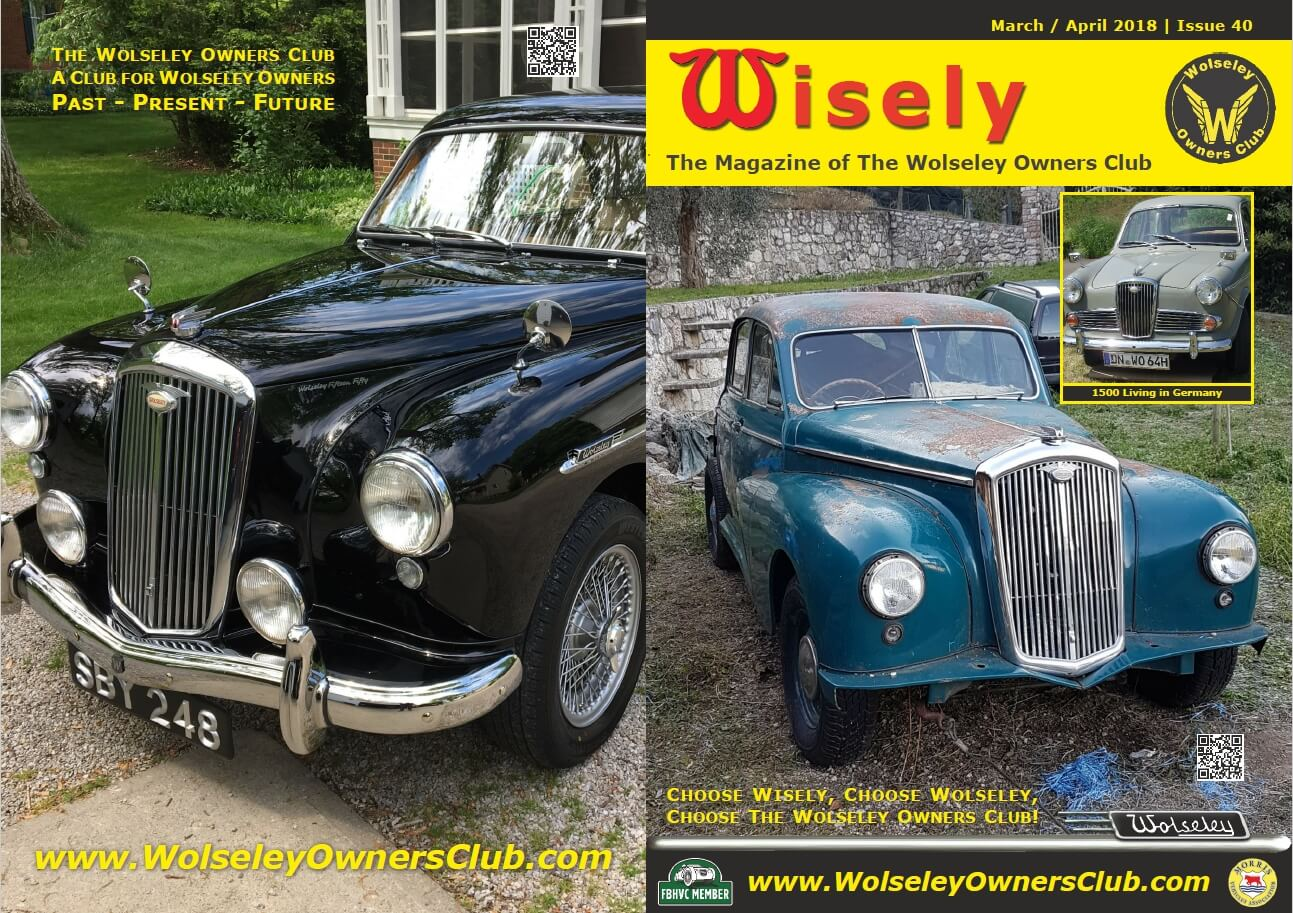 Wolseley Owners Club Wisely Magazine